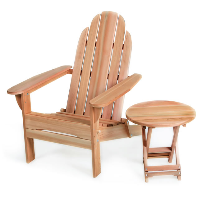 Folding Adirondack Chair and Table Set