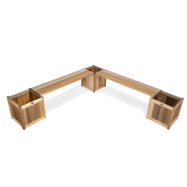 5 piece Planter with Benches