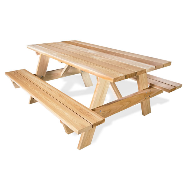 Six Foot Picnic Table with Attached Bench