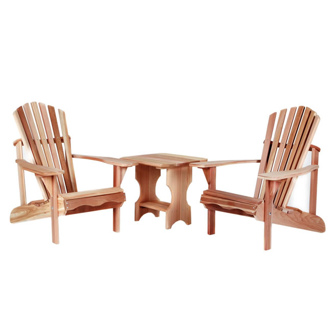 3 piece Side Table Adirondack Set