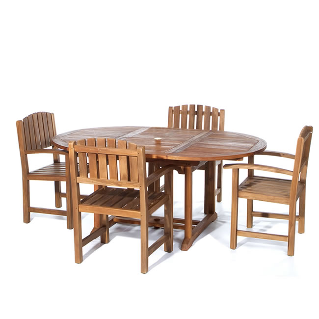 5 piece Oval Dining Table and Chair Set