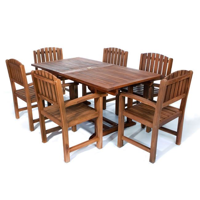 Seven Piece Rectangle Table and Dining Chair Set