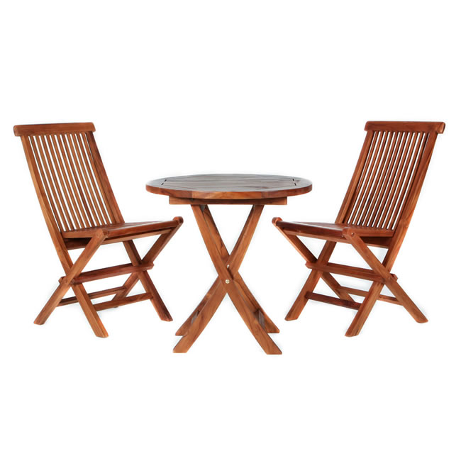 Three Piece Teak Bistro Set