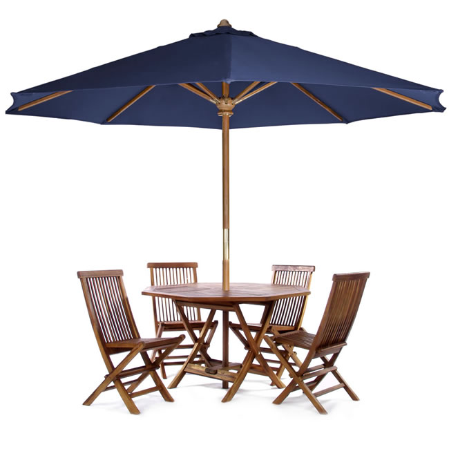 Teak Patio Table Set (Six Piece)
